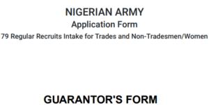 Print Your Nigerian Army 79RRI Forms