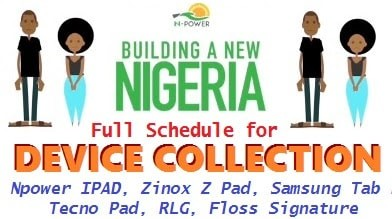 Npower 2017/18 Device Collection Center & Address In Ogun State